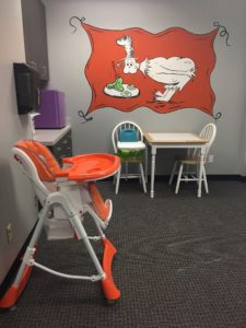 pediatric speech therapy room in houston