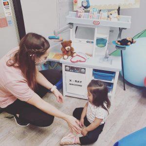 Nurse And Girl Seating